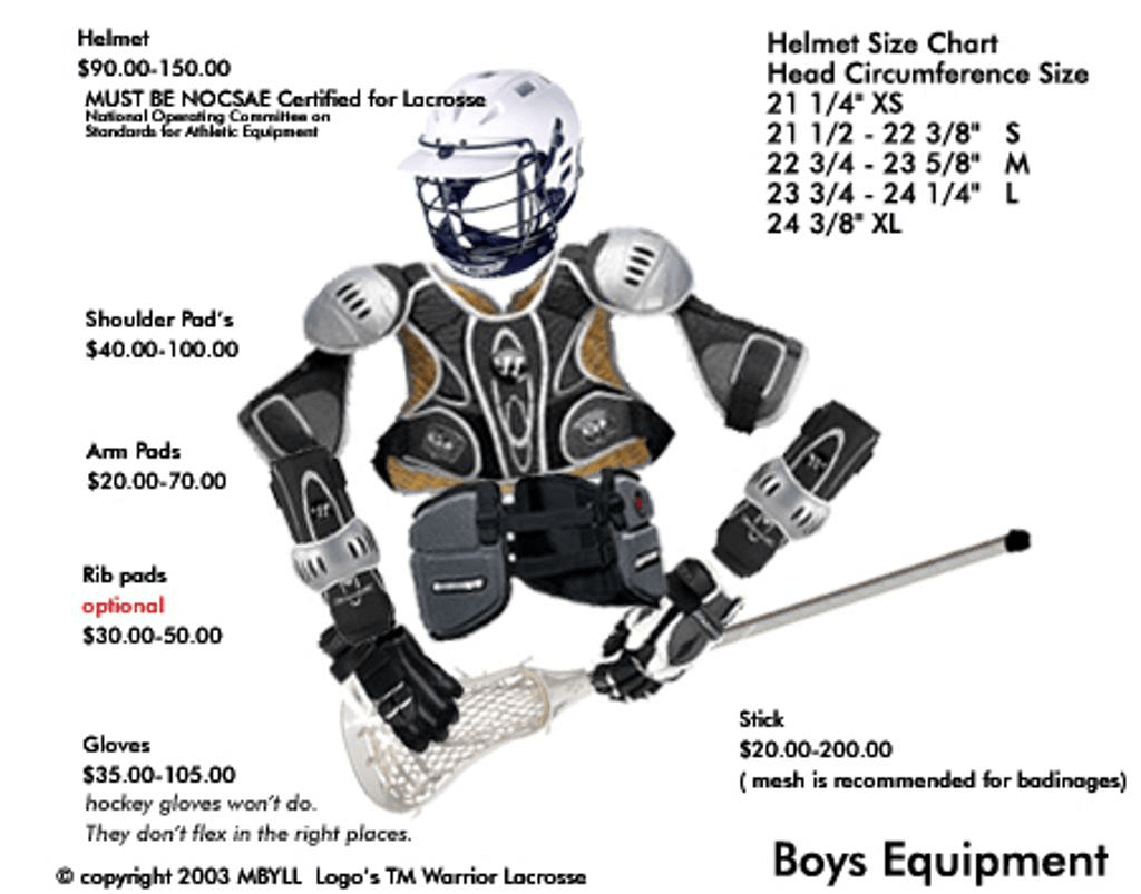 Boy's Lacrosse Equipment